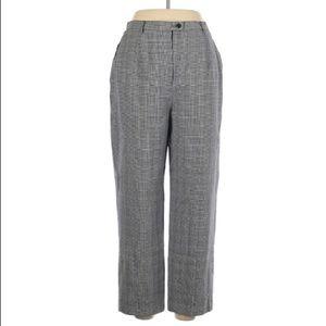 Pendleton Wool Plaid Dress Work Trousers, Size 12